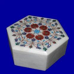 Semi- Precious Stones Inlaid Box