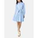 Blue Cotton Surplus Ladies Dress