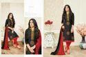 Black Printed Shaista Salwar Suit Fabric
