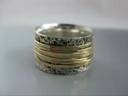 Two Tone Sterling Silver Rings