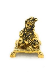 Gold Plated Laddu Gopal
