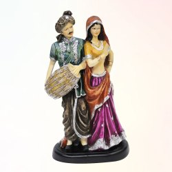 Home Decorated Rajasthani Dholak Statue, Size: 19x12.5x37 cm