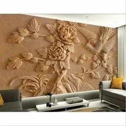 Brown Canvas Flower Wall Mural