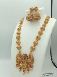 Brass Matte Finish Jewellery Set Collection - NK 9000