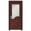 Brown Wooden Bathroom Door