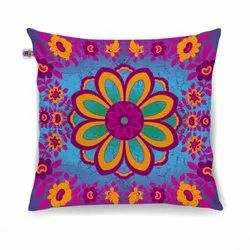 Marvelous Flower Motif Cushion Cover