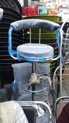 Attari Blue, Silver Stainless Steel Chair, For Cafe, Restaurant