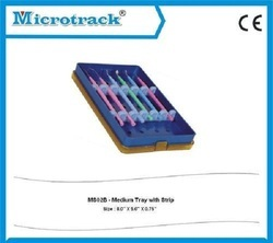Medium Plastic Sterilization Tray with Silicon Holder