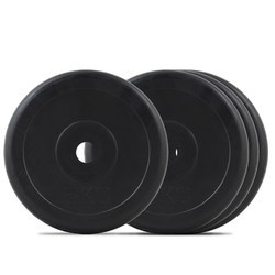 Presto All Rubber Weightlifting Plates (28 mm and 50 mm)