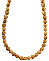 Kesar Zems Wooden 4 and 6 Mukhi Rudraksh Mala (15 cm x 40 cm x 2 cm, Brownish Yellow)