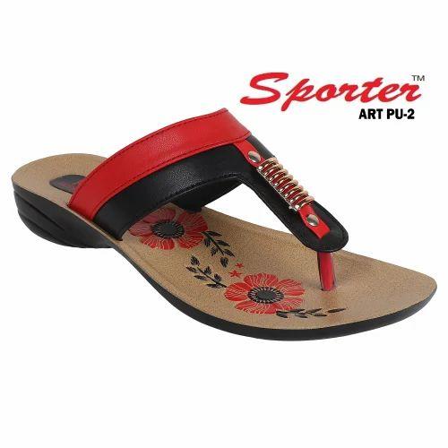 dc02a42856de5 Ladies PU Slippers - Sporter Ladies Black PU Slipper Manufacturer from New  Delhi