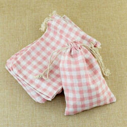 Cotton Check Potli Bag, Bag Size: 5 X 7
