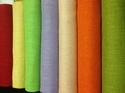 Yellow And Cream Plain Dyed Jute Fabric For Clothing And Bags