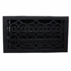 Flower Iron Wall Register with Louver - 6inch x 12inch (7-1/2inch x 13-1/2inch Overall)