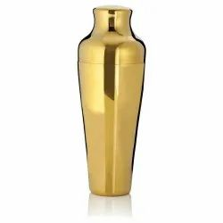 Stainless Steel Gold Plated Cocktail Shaker