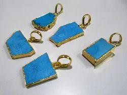 Turquoise Magnesite Slice Pendant