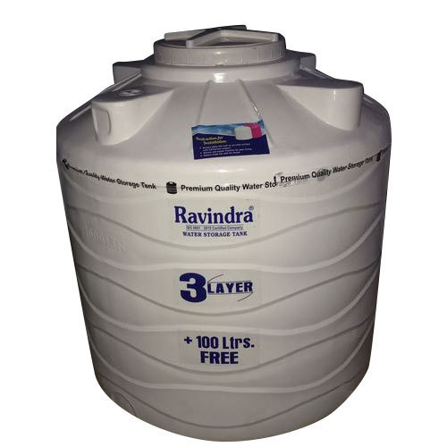 Ravindra 3 Layer White Water Tank Capacity 500 1000 L Rs 4 2 Litre Id 19160475162