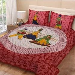 Rajasthani Folk Dance Double Bedsheets Cotton
