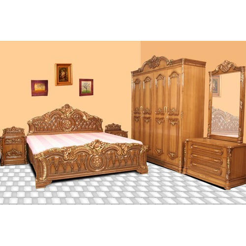 Standard Wooden Designer Bed Rs 20000 Piece Shams Kamar