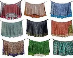 Women's Long Traditional Vintage Silk Warp