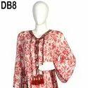 10 Cotton Hand Printed Women's Long Dress India DB8