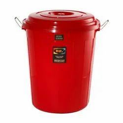 40 Liter Plastic Lid Bucket