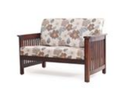 Athens Two Seater Sofa In Brown Finish