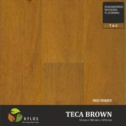Teca Brown Engineered Wooden Flooring