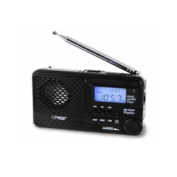 Black Fiber Solar MP3 Player and Radio