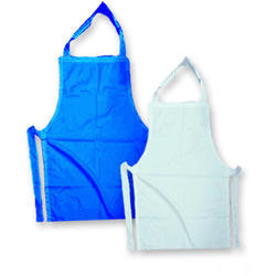 Blue And White Cotton Safety Apron