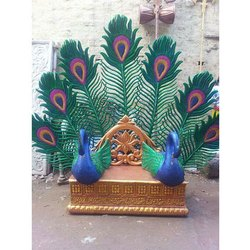 Decorative Peacock Wedding Bride Sofa Entry
