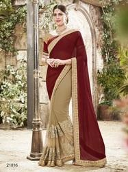 Fancy Georgette Work Saree