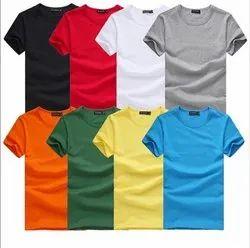 Cotton Plain Men T-Shirts, Size: S - XXL