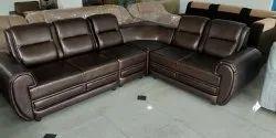 Leather PVC Corner Sofa Set for Home