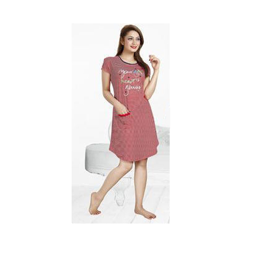 2346b3ae0b5e Ladies Cotton Printed Short Nightgown, Size: L, Rs 500 /piece | ID ...