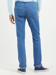 Regular Fit Casual Wear Blue Casual Jeans