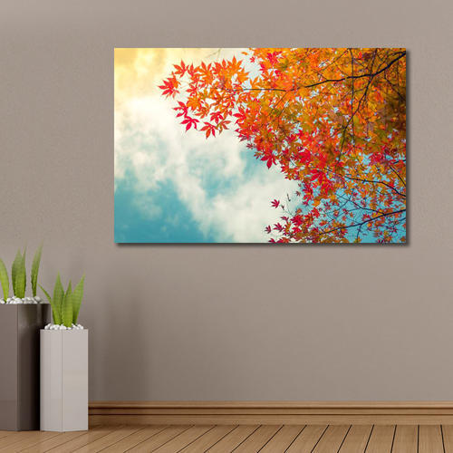 999store Unframed Printed Beautiful Colorful Autumn Leaves Canvas Painting