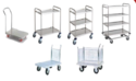 General Purpose Platform 2/3 Shelve Trolleys