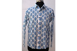 Block Printed Shirt Wooden Print Shirt Soft Fabric Shirt