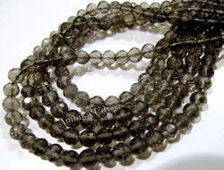 Smoky Quartz Micro Faceted Gemstone Beads