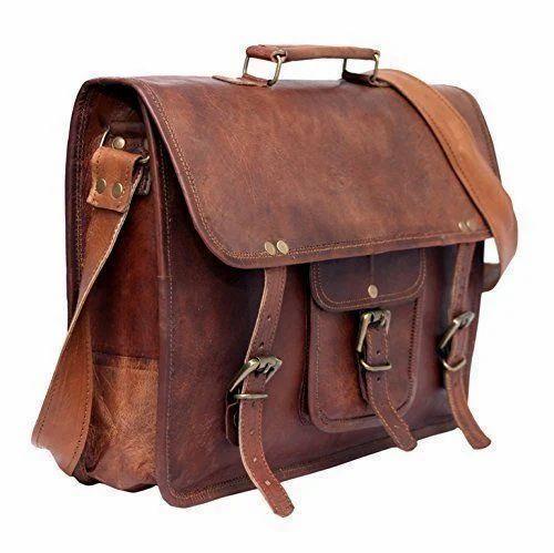 511b17d973 Brown SKH Men  s Genuine Vintage Leather Messenger Bag