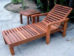 Woodwork Pool Lounger