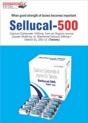 Calcium Carbonate 1250mg Eq.To Elemental Calcium 500mg   Vitamin D3 250 I.U