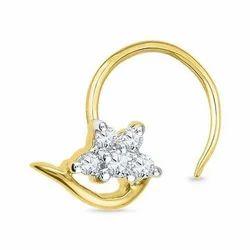 Yellow Gold Barbi Diamond Nose Ring, Rs 7837 /piece, Kalyan
