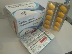 Diclofenac Potassium 50 Mg Paracetamol 325 Mg Chlorzoxazone 250 Mg Tablet