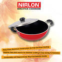 Non-Stick Aluminium Gas-Top Deep Pot with Steel Lid (235mm)