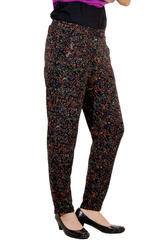 Cotton Regular Fit Women Printed Casual Pant