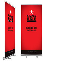 Roll Up Banner Standees, Size: 6x2.5 & 6x3