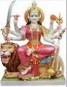Marble Sitting Durga Statue