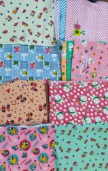 Cotton Multicolor Nursery Print Baby Fabric, For Hospital, GSM: 100-150